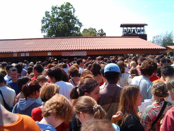 Food Line at Taize