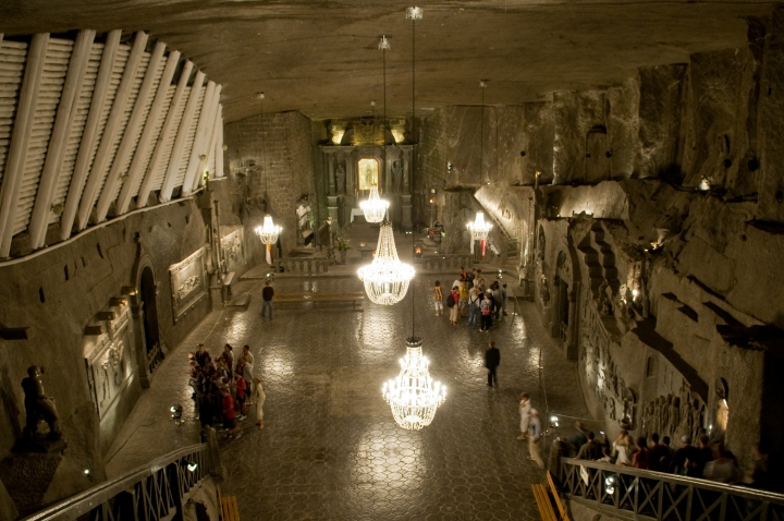 Wieliczka Salt Mine, Poland, via Wikimedia Commons (CC)